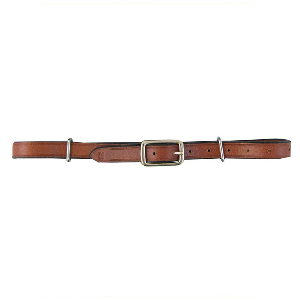 Western Leather Curb Strap