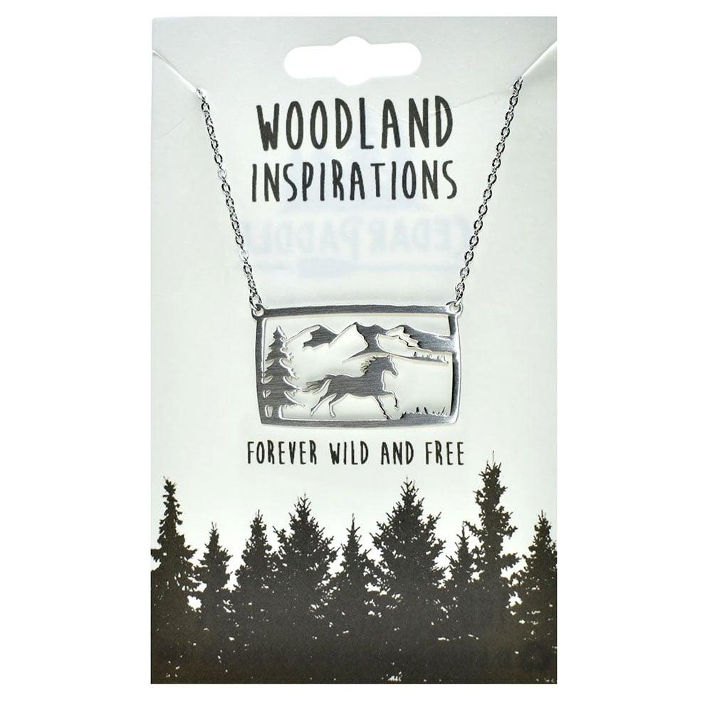 """""""Woodland Horse Scene"""" Necklace"""