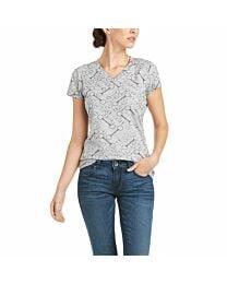 Ariat Snaffle Ladies' V-Neck Tee Shirt