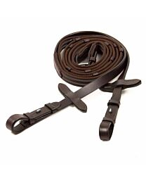 Schockemohle Sports Rubberized Web Reins with Hook Stud