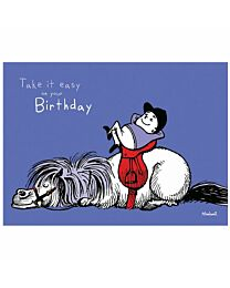 """Thelwell """"Take It Easy"""" Birthday Card"""