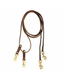 Tory Leather Snap On Pulley Draw Reins