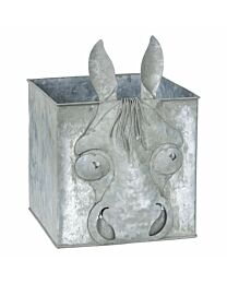 Antique Metal Horse Face Cube