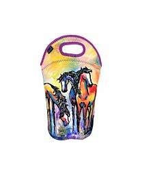 """Art of Riding """"Friends in Colour"""" Wine Tote"""