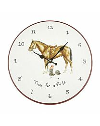 "At Home In The Counrty ""Time For A Ride"" Wall Clock"