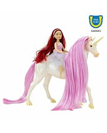 Breyer Magical Unicorn Sky and Fantasy Rider, Meadow