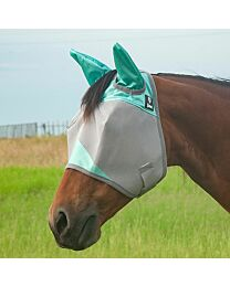 """Cashel Crusader """"Mint"""" Standard Fly Mask with Ears"""