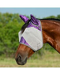 "Cashel Crusader ""Orchid"" Standard Fly Mask with Ears"