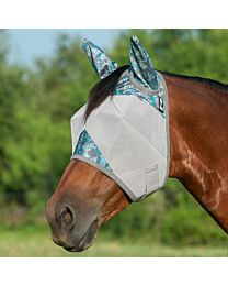 """Cashel Crusader """"Tribal Teal"""" Standard Fly Mask with Ears"""