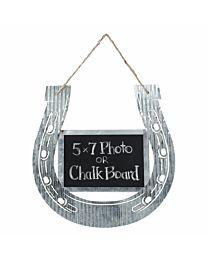 Corrugated Horseshoe Chalkboard or Photo Frame