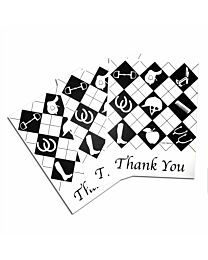 """Costa Classics """"Equipment"""" Thank You Note Cards"""