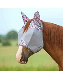 Crusader Plum Flash Standard Fly Mask with Ears
