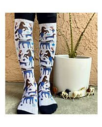 """Dreamers & Schemers """"Which Way?"""" Boot Socks"""