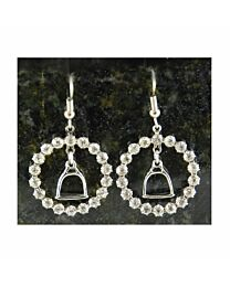 Earring - Stirrup with Crystal Ring