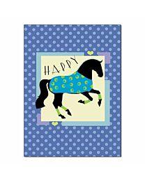 "Horse Hollow Press ""Blue Dressage"" Birthday Card"