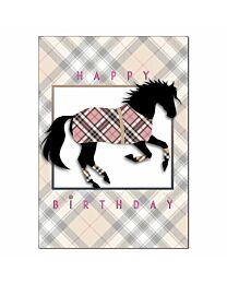 "Horse Hollow Press ""Burberry"" Birthday Card"