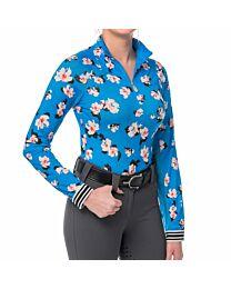 Kastel Denmark Ladies Long Sleeve Contrast Cuff Quarter Zip Sun Shirt