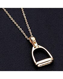 Large Stirrup Pendant Necklace