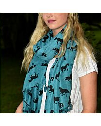 Lila Galloping Horse Tassel Scarf
