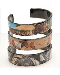 Loriece Equestrian Acrylic Cuff