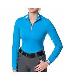 Kastel Denmark Ladies Long Sleeve Rose Gold Quarter Zip Sun Shirt