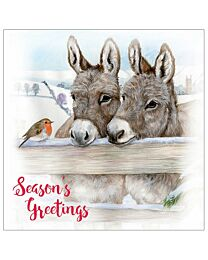 "Otter House ""Christmas Donkey"" Holiday Greeting Cards"
