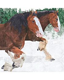 """Paperproducts Design """"Clydesdales"""" Napkins"""