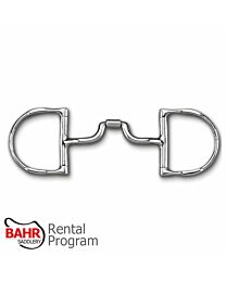 RENTAL - Myler MB43LP Stainless Steel Low Ported Barrel Narrow Mouth Dee Ring with Hooks