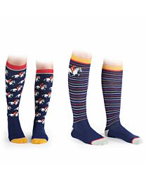 """Shires Equestrian """"Horse"""" 2-Pack Everyday Socks"""