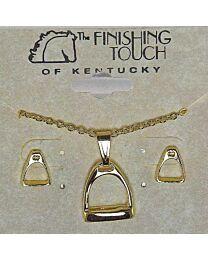 Earring & Necklace Gift Set - Stirrup