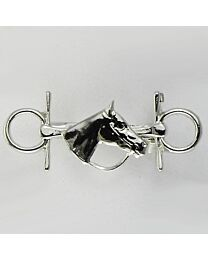 Stock Pin - Full Cheek Snaffle with Horse Head