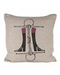 """Sunbrella """"Boots 'n Bit"""" Indoor/Outdoor Pillow"""