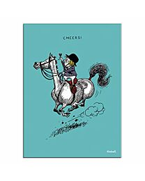 """Thelwell """"Cheers!"""" Birthday Card"""
