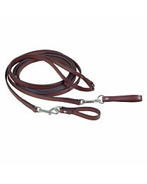Tory Leather Draw Reins with Loop and Snap
