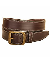 """Tory Leather 1 1/2"""" Double Stitched Belt"""
