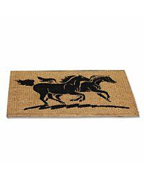 """""""Two Horses"""" Coir Door Mat"""