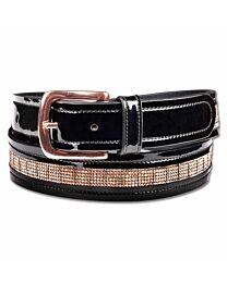 Waldhausen Rose Gold Patent Leather Belt