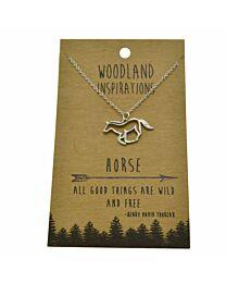 Woodland Horse Necklace