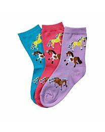 """Youth/Kids """"Puffy Pony"""" Crew Socks"""