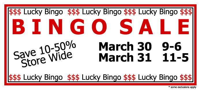 BINGO Sale March 30-31
